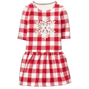 "Gymboree""NORTH POLE PARTY""Buffalo Red Plaid Dress"
